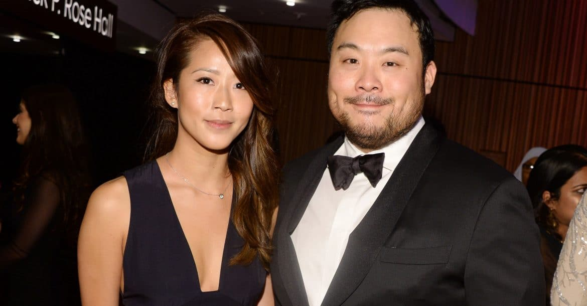 David Chang avec amicale, femme Grace Seo Chang
